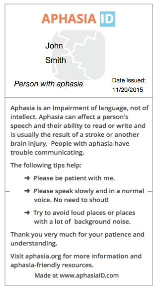 Aphasia ID screenshot