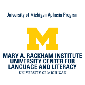 University of Michigan Aphasia Program logo - block M
