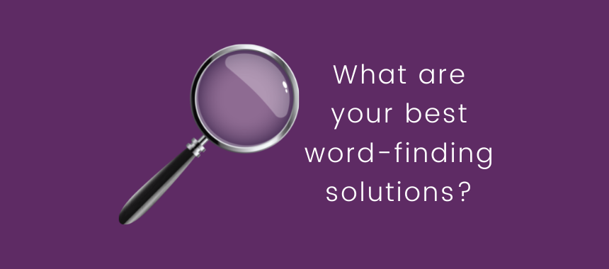 word-finding solutions
